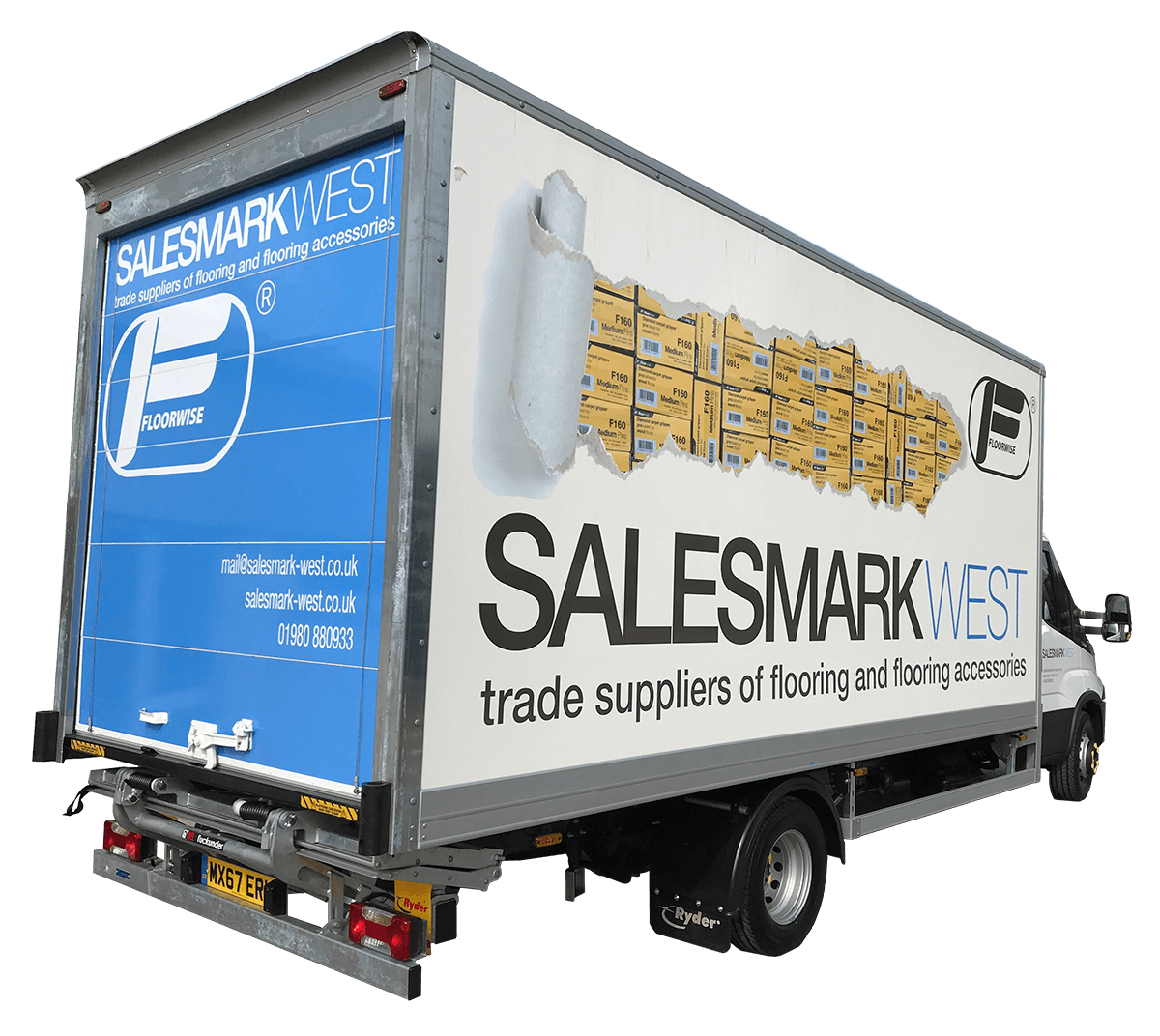 Salesmark West Delivery Lorry